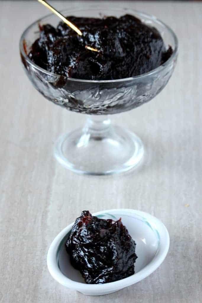Jackfruit Halwa served in a bowl