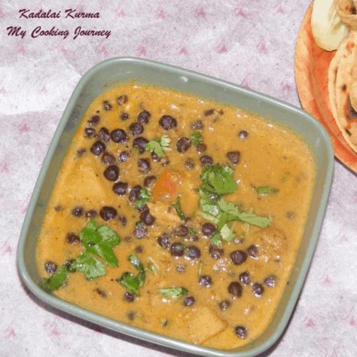 Kadalai Kurma in a bowl