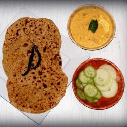 Bikaneri Channa Dal Paratha in a plate