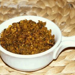 Pavakkai Podi in a bowl
